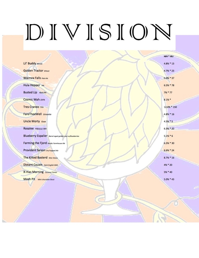 Division Beer List 62817