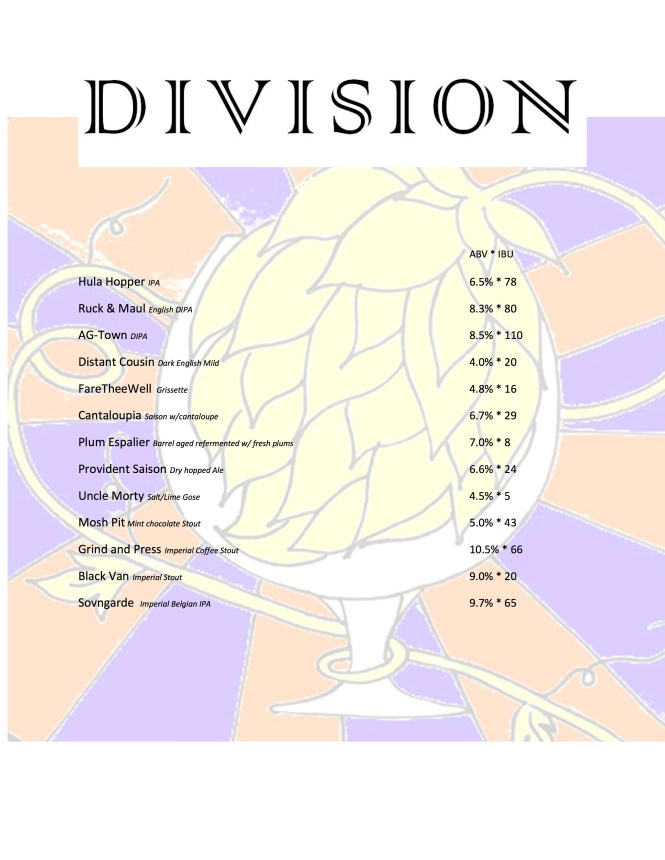 Division Beer List